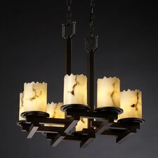 <strong>Justice Design Group</strong> LumenAria Dakota 8 Light Chandelier