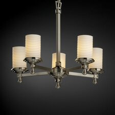 <strong>Justice Design Group</strong> Deco Limoges 5 Light Chandelier