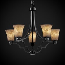 Alabaster Rocks Argyle 5 Light Chandelier