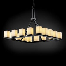 <strong>Justice Design Group</strong> Montana Limoges 16 Light Chandelier