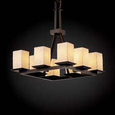 <strong>Justice Design Group</strong> Montana Limoges 8 Light Chandelier