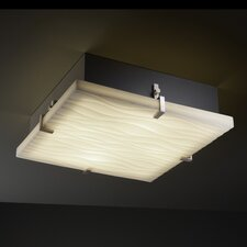 <strong>Justice Design Group</strong> Porcelina Clips Square Flush Mount