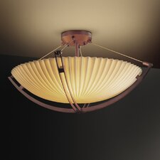 <strong>Justice Design Group</strong> Porcelina Crossbar 12 Light Semi Flush Mount
