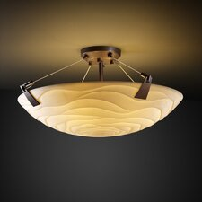 Porcelina Tapered Clips 6 Light Semi Flush Mount
