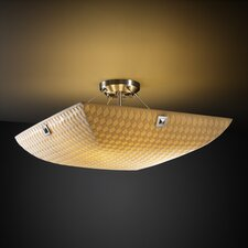 Porcelina Finials 3 Light Semi Flush Mount