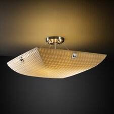 Porcelina Finials 6 Light Semi Flush Mount