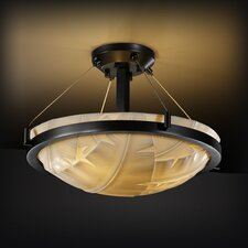 Porcelina Ring 3 Light Semi Flush Mount