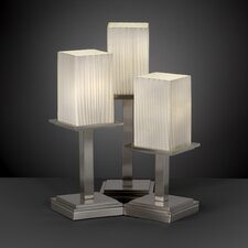 "Fusion Montana Portable 16.75"" H Table Lamp with Square Shade (Set of 3)"