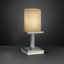 "Fusion Montana Short 12.75"" H Table Lamp with Square Shade"
