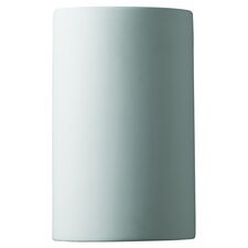 <strong>Justice Design Group</strong> Ambiance Open Top and Bottom Small Cylinder 1 Light Wall Sconce