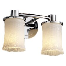 <strong>Justice Design Group</strong> Veneto Luce Rondo 2 Light Bath Vanity Light