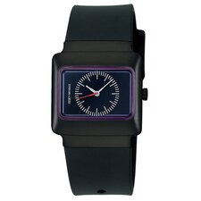 Vakio Watch with Black Case and Plum Dial