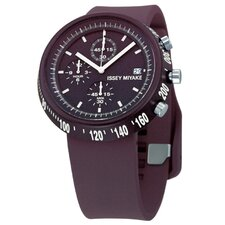Trapezoid Al Watch in Maroon