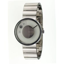 Vue Yves Behar Watch with Silver Metal Band
