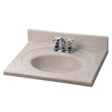 "Silkstone 25"" Recessed Oval Bowl Vanity Top"
