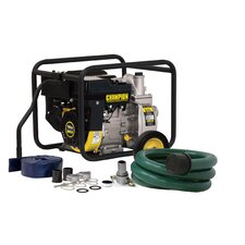 158 GPM Semi Trash and Water Transfer Pump with Hose Kit