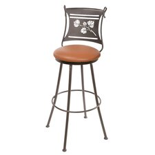 "<strong>Stone County Ironworks</strong> Aspen 25"" Swivel Bar Stool with Cushion"