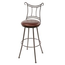 "<strong>Stone County Ironworks</strong> Waterbury 25"" Swivel Bar Stool with Cushion"