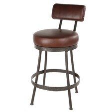 "<strong>Stone County Ironworks</strong> Cedarvale 25"" Swivel Bar Stool with Cushion"