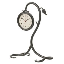 <strong>Stone County Ironworks</strong> Leaf Table Clock