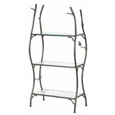Sassafras 3-Tier Double Width Standing Glass Shelf