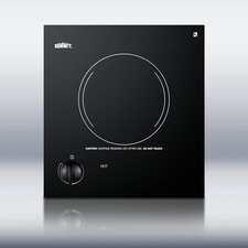 <strong>Summit Appliance</strong> One Burner Electric Cooktop in Black