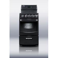 "20"" Wide Deluxe Electric Range in Black"