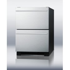 "<strong>Summit Appliance</strong> 24"" Built-in All-Refrigerator Drawer"
