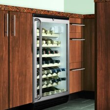 Wine Cellar with Wooden Shelves in Black