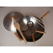 "<strong>Taylor & Ng</strong> 6 Piece 14"" Flat Bottom Wok Set"