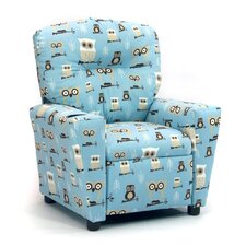 "Assorted Juvenile Prints Kids ""Hooty"" Owls Recliner"