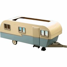 Vintage Travel Trailer Dollhouse Kit