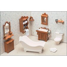 <strong>Greenleaf Dollhouses</strong> Bathroom Furniture Kit