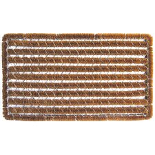Bootscraper - Recycled Rubber and Coir Stripes Wire Brush Shag Doormat