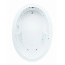 """Reliance 60"""" x 42"""" Oval Whirlpool Tub with End Drain"""