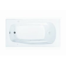"Basics 70"" x 36"" Rectangular Whirlpool Tub with End Drain"