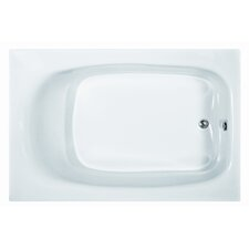 "Basics 71"" x 47"" Rectangular Whirlpool Tub with End Drain"
