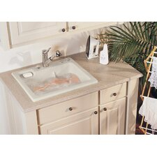 "Reliance 25"" x 22"" Jentle Jet Laundry Sink"