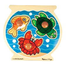 <strong>Melissa and Doug</strong> Fish Bowl Jumbo Wooden Knob Puzzle