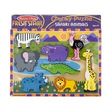 <strong>Melissa and Doug</strong> Safari Chunky Wooden Puzzle