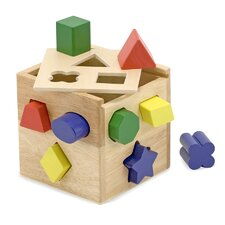 <strong>Melissa and Doug</strong> Shape Sorting Cube Toy