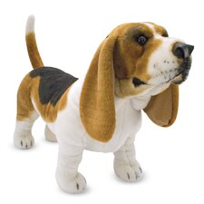 <strong>Melissa and Doug</strong> Basset Hound Plush Stuffed Animal
