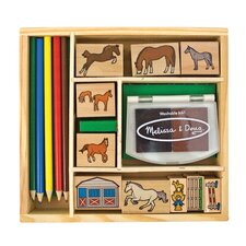 <strong>Melissa and Doug</strong> Horses Stamp Set Arts & Crafts Kit