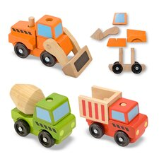 <strong>Melissa and Doug</strong> Stacking Construction Vehicle Set