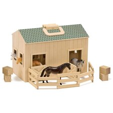 <strong>Melissa and Doug</strong> Fold and Go Mini Stable