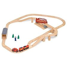 <strong>Melissa and Doug</strong> Swivel Bridge Train Set