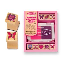 <strong>Melissa and Doug</strong> Butterfly and Hearts Stamp Set