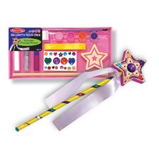 <strong>Melissa and Doug</strong> Decorate-Your-Own Wooden Princess Wand