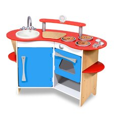 <strong>Melissa and Doug</strong> Cook's Corner Wooden Kitchen