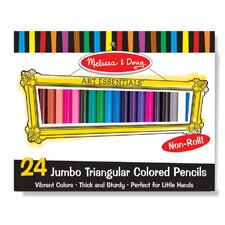 Jumbo Triangular Colored Pencils, 24 Pack
